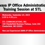 Free Avaya IP Office Training Session on 9/23