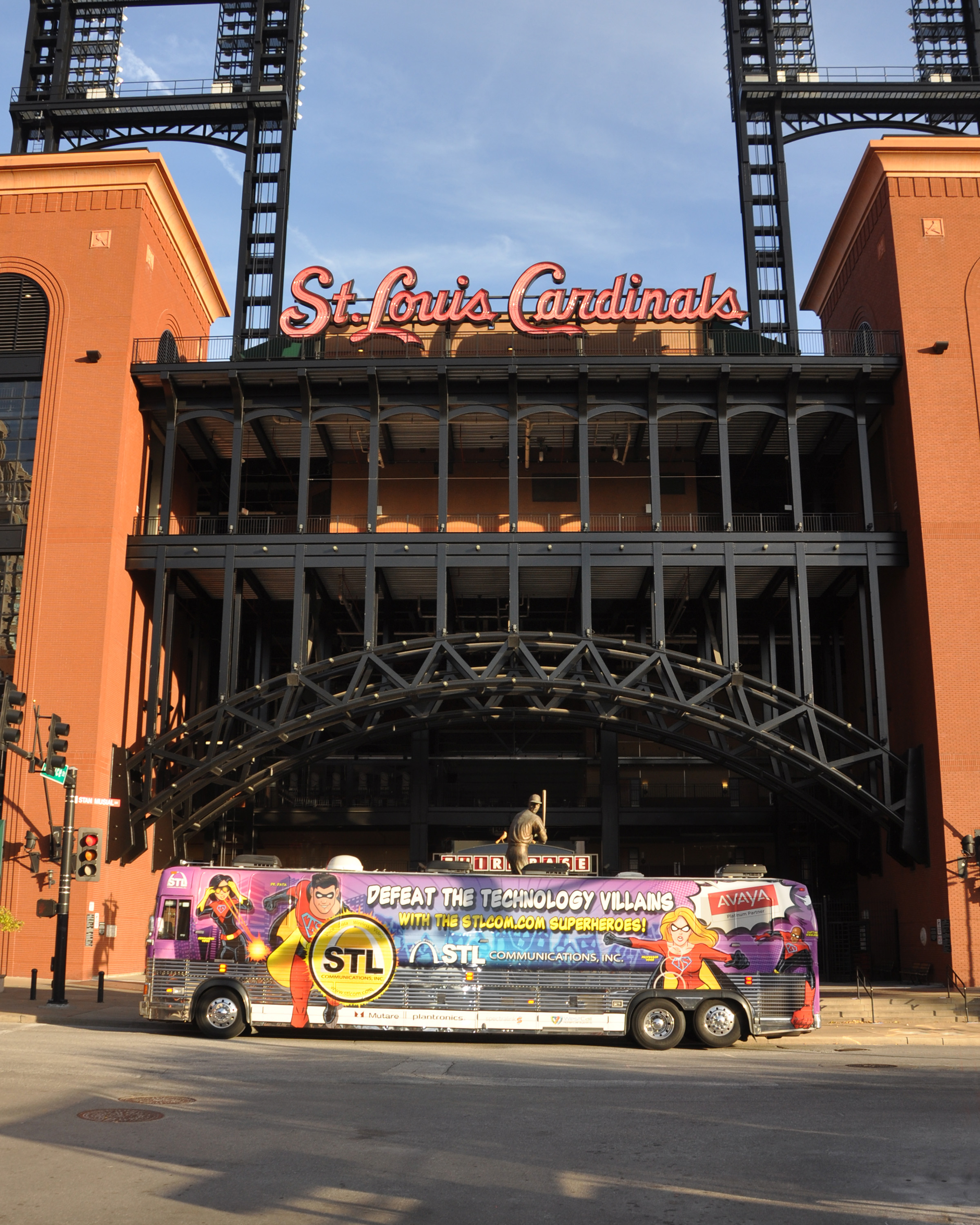 In front of Busch Stadium (go Cards!)